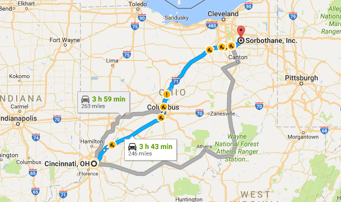 Directions from Cincinnati