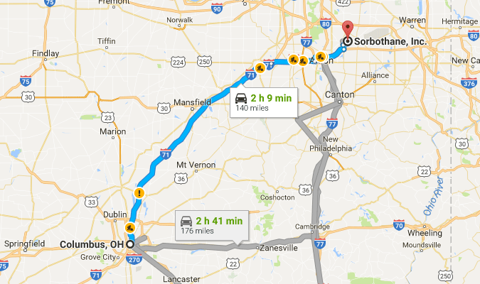 Directions from Columbus