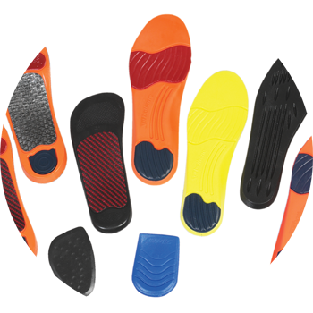 Full line of Sorbothane Heels and Full Sole Insoles