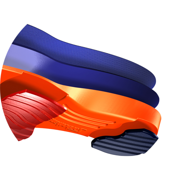 Sorbothane Insoles made with dual casting