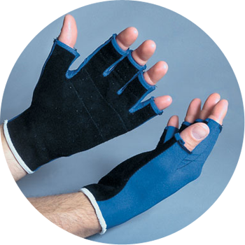 Anti-vibration gloves made with Sorbothane