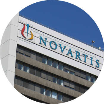 Novartis building sign